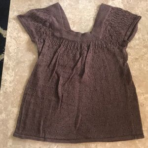 Crochet Dark brown top